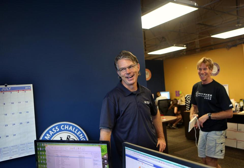 Glynn Hawley, director of provisions and logistics, and Billy Starr work out of the nonprofit's Needham headquarters.